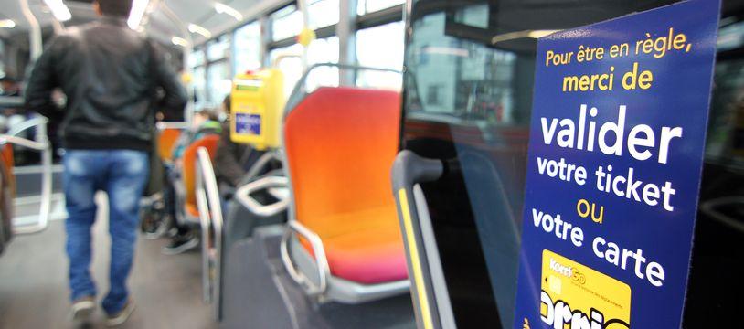Illustration d'un bus du réseau Star à Rennes, le 3 février 2016.