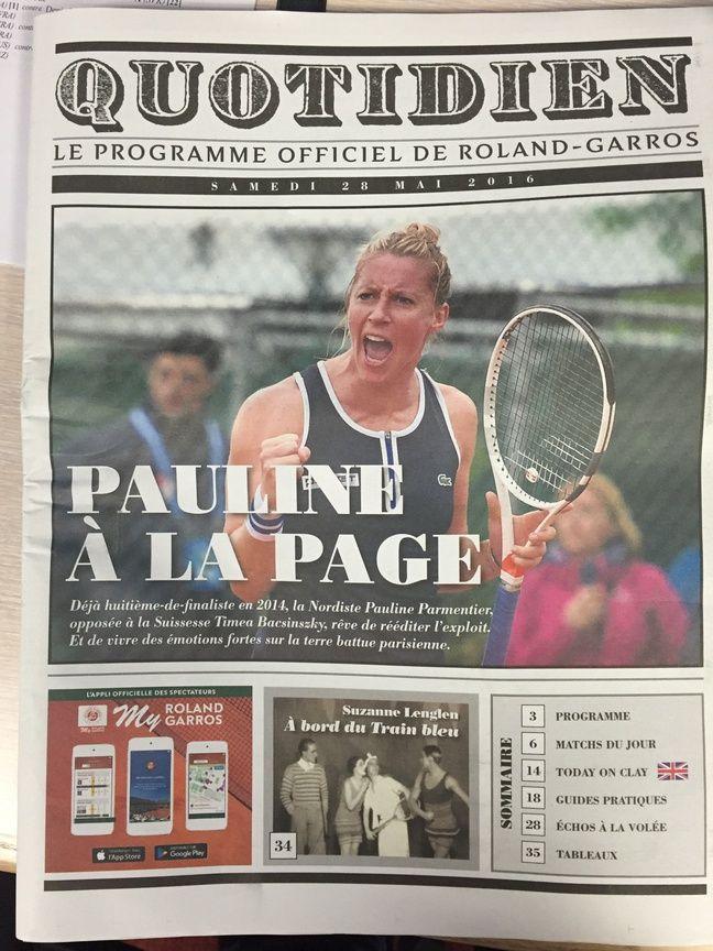 Le journal officiel de Roland-Garros du 28 mai 2016.