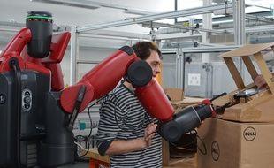 Le cobot Baxter de l'Université Paul-Sabatier