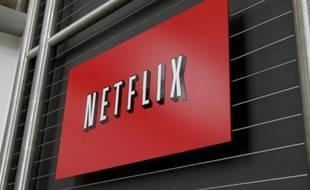 Le logo de Netflix au siège du leader mondial de la SVOD, à Los Gatos, en Californie, le 13 avril 2011