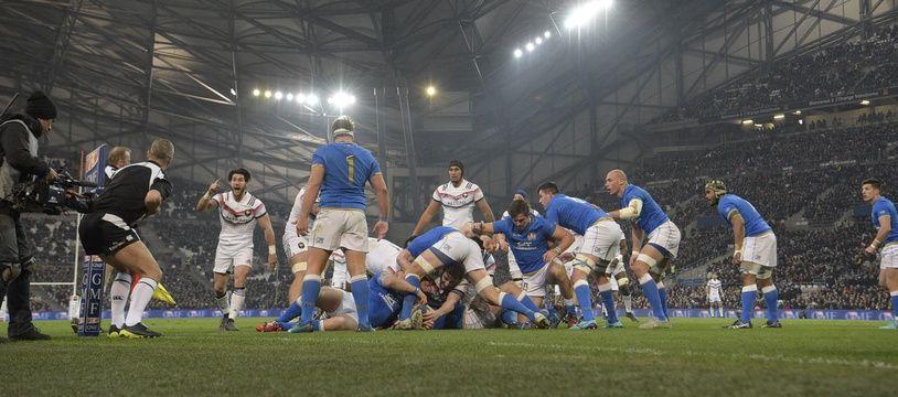 Le Stade Vélodrome accueille régulièrement des matchs de rugby, comme ici la rencontre France-Italie, le 23 mars 2018 (archives).