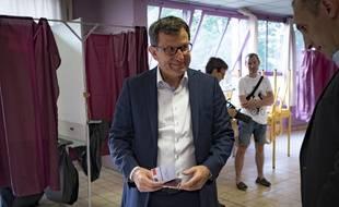 Le député socialiste de la 9e circoncetiption, Christophe Borgel, lors du premier tour des élections législatives le 11 juin 2017.