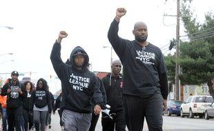Des manifestants après la mort de Freddie Gray à Baltimore, aux Etats-Unis, le 19 avril 2015.