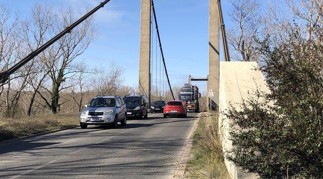 Le pont de Vernaison vers Lyon interdit à certains poids lourds