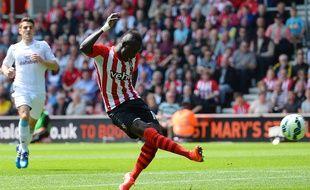 L'attaquant de Southampton Sadio mané, auteur d'un triplé contre Aston Villa, le 16 mai 2015.