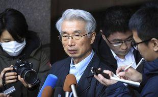 Junichiro Hironaka, l'un des principaux avocats japonais de Carlos Ghosn, à Tokyo le 31 décembre 2019.