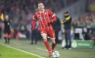 Franck Ribéry lors du match Bayern  Munich-Dortmund, le 20 décembre 2017.