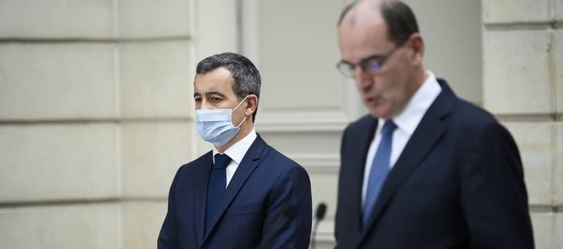 Le ministre de l'Intérieur Gérald Darmanin et le Premier ministre Jean Castex.