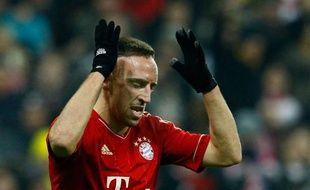 L'attaquant du Bayern Munich, Franck Ribéry, lors d'un match contre dortmund, le 19 novembre 2011 .