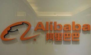 Le logo du site on line chinois Alibaba, le 22 février 2012
