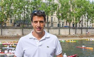 Tony Estanguet lors des Journées olympiques organisées à Paris, les 23 et 24 juin 2017.