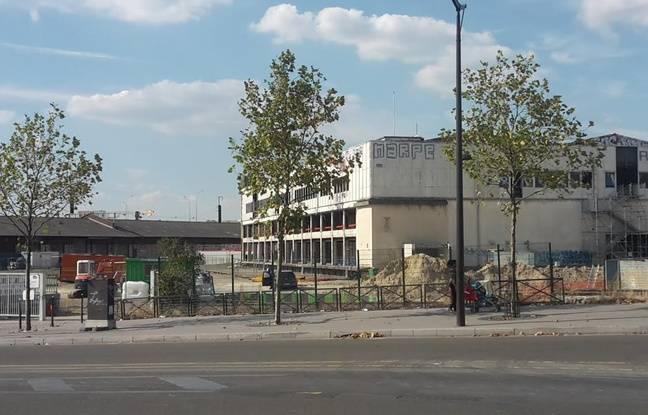 Le futur centre depuis le boulevard Ney (18e)