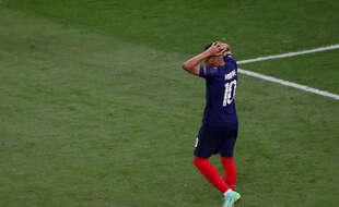 Kylian Mbappé, lors du match qui a opposé la France à la Suisse, lundi 28 juin (Illustration)