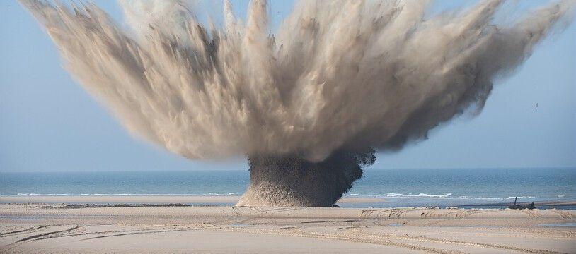 Les démineurs ont fait exploser les engins sur la plage de Wissant