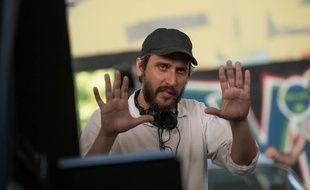 Le réalisateur Fede Alvarez sur le tournage de Don't Breathe en 2016