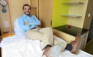 Paul Malignac, PDG d'Espace Loggia, a séduit le Crous de Rennes avec ses lits connectés.