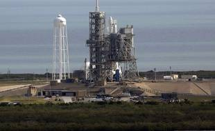Une fusée Falcon 9, de la société Space X, parée au décollage le 18 février dernier à Cap Canaveral (Floride).