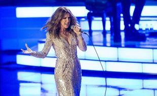 Céline Dion sur scène à Las Vegas en août 2015.