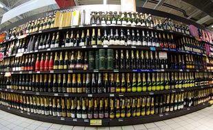 Photo d'illustration. Bouteilles d'alcool.