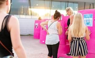 Les urinoirs féminins ont été mis en place au festival Summer Vibrations, à Sélestat.