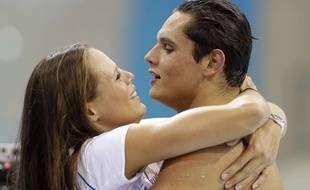 Laure et Florent Manaudou en août 2012 aux jeux Olympiques de Londres.