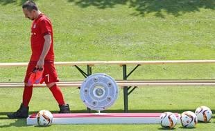 Franck Ribéry lors de la présentation officielle du Bayern pour la nouvelle saison, le 16 juillet 2015 à Munich.