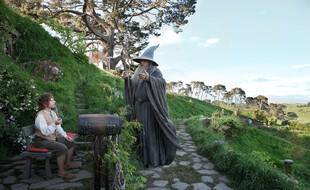 Les acteurs Martin Freeman et Ian McKellen dans «Le Hobbit»