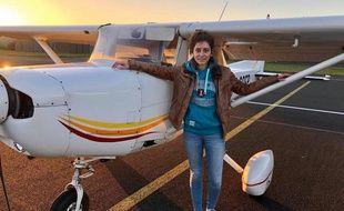 Eléanor a obtenu sa licence de pilote à 17 ans.