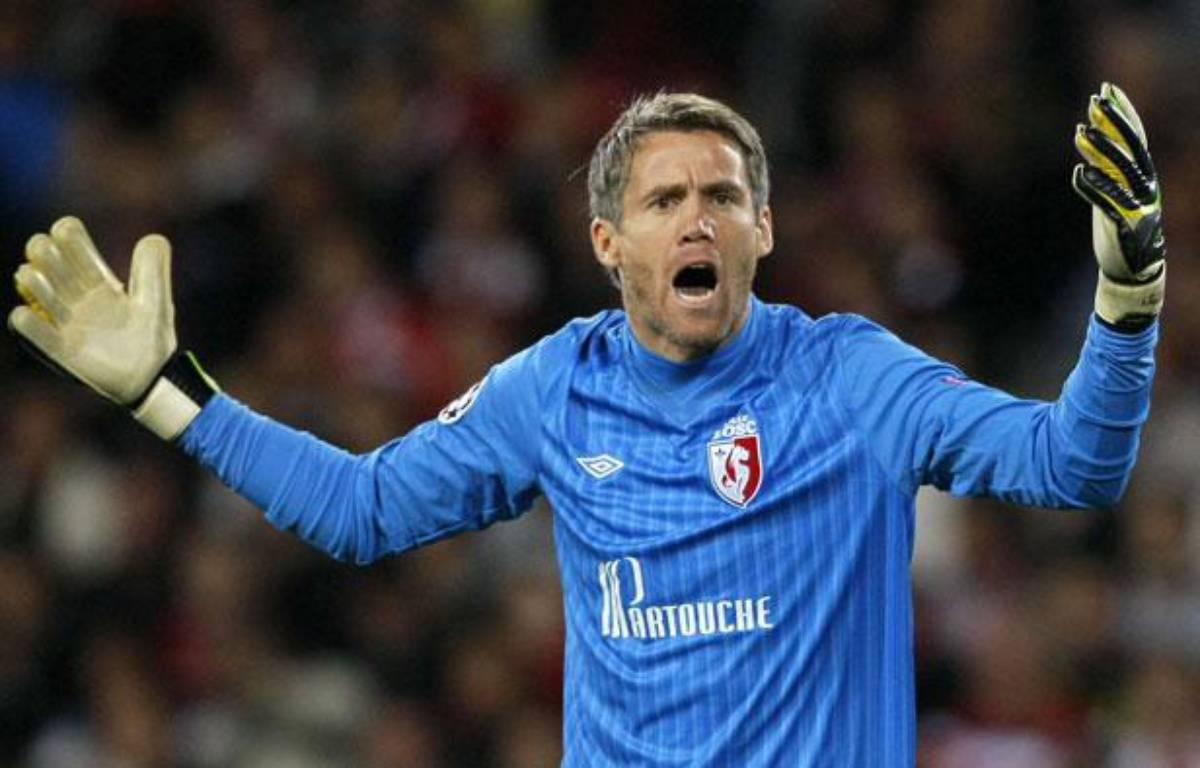 Mickaël Landreau pendant Lille-Bate Borisov, le 19 septembre 2012 au Grand Stade du Losc. – Michel Spingler/AP/SIPA