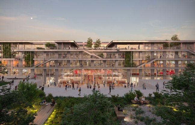 Le futur campus d'EM Lyon.