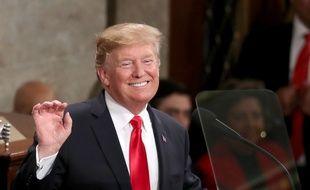 Donald Trump lors de son discours sur l'état de l'Union, le 5 février 2019.