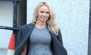 Pamela Anderson à Londres le 13 février dernier