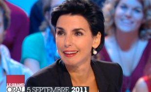 Rachida Dati, le 5 septembre 2011, sur le plateau du Grand Journal.