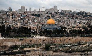 Vue de Jérusalem depuis le Mont des Oliviers (illustration).