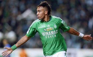 L'attaquant de Saint-Etienne Pierre-Emerick Aubameyang, le 10 novembre 2012, contre Troyes.