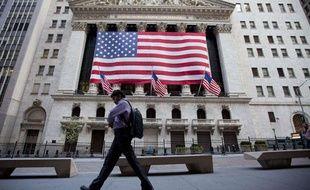 La Bourse de Wall Street à New York (Etats-Unis) le 5 août 2011.