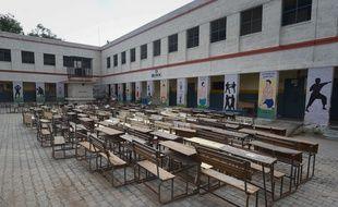 Une école fermée à New Delhi en Inde, le 7 juillet 2020.