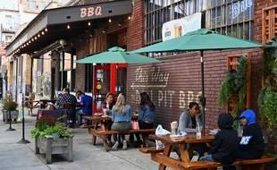 Une terrasse de restaurant à New York le 2 octobre 2020.