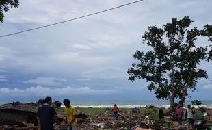 Le village de Carita, en Indonésie, a été frappé par un tsunami le 24 décembre 2018