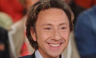 Stéphane Bern à l'enregistrement de «Vivement Dimanche» avec Serge Lama, presenté par Michel Drucker sur France 2, le 28 novembre 2012.