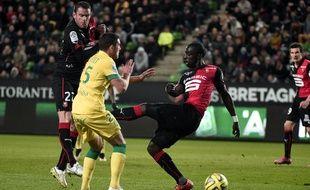 Sylvain Armand et Cheikh M'Bengue lors du dernier Rennes-Nantes en date, le 21 mars 2015.