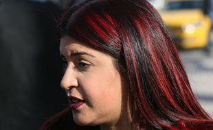 Lina Ben Mhenni à Tunis le 2 janvier 2018.