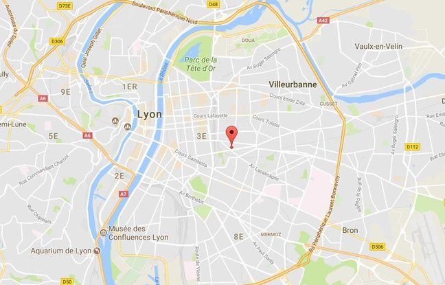 Localisation de la rue Baraban, dans le 3e arrondissement de Lyon (Rhône)