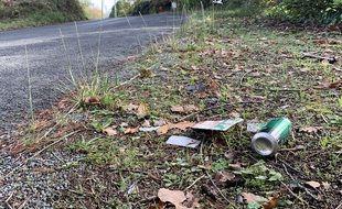 Des déchets sur le bord d'une route (illustration).
