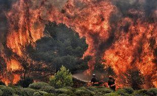 Incendies en Grèce, le 25 juillet 2018.