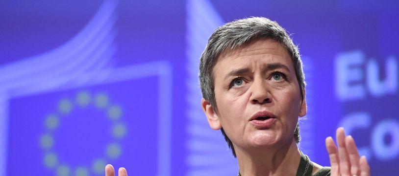 La commissaire européenne Margrethe Vestager le 7 décembre 2016 à Bruxelles.