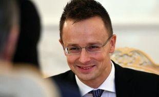 Le ministre des Affaires étrangères Peter Szijjarto, le 21 octobre 2015, à Moscou