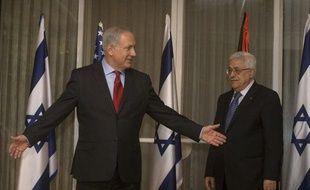 Le Premier ministre israélien Benyamin Netanyahou et le président palestinien Mahmoud Abbas, le 15 septembre 2012, à Jérusalem.