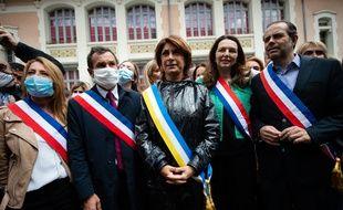 Julien Ravier, deuxième en partant de la gauche, à côté de Martine Vassal, au centre. (archives)
