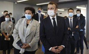 Emmanuel Macron et Frédérique Vidal en 2020.